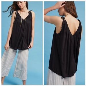 NWT Anthropologie Tie Shoulder Tank
